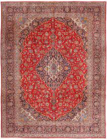 カシャン 絨毯 315X420 オリエンタル 手織り 深紅色の/錆色 大きな (ウール, ペルシャ/イラン)