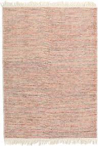 Medium Drop - 錆色/オレンジ Mix 絨毯 140X200 モダン 手織り ベージュ/ホワイト/クリーム色 (ウール, インド)
