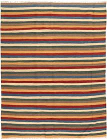 キリム 絨毯 162X213 オリエンタル 手織り 薄茶色/深緑色の (ウール, ペルシャ/イラン)