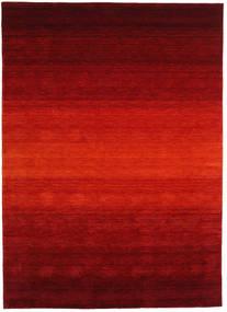 ギャッベ Rainbow - 赤 絨毯 210X290 モダン 深紅色の/錆色 (ウール, インド)