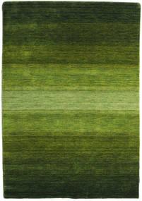 ギャッベ Rainbow - グリーン 絨毯 140X200 モダン 深緑色の/オリーブ色 (ウール, インド)