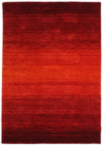 ギャッベ Rainbow - 赤 絨毯 140X200 モダン 錆色/深紅色の (ウール, インド)