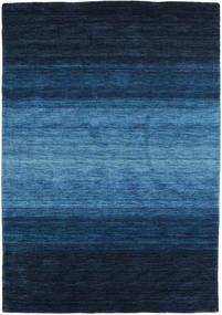 ギャッベ Rainbow - 青 絨毯 140X200 モダン 紺色の/青 (ウール, インド)