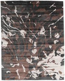 ネパール Original 絨毯 240X301 モダン 手織り 濃いグレー/濃い茶色 (ウール/バンブーシルク, ネパール/チベット)