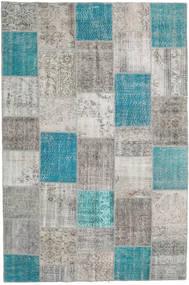 パッチワーク 絨毯 200X300 モダン 手織り 薄い灰色/ターコイズブルー (ウール, トルコ)