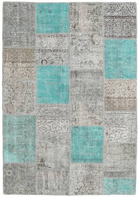 パッチワーク 絨毯 160X230 モダン 手織り 薄い灰色/ターコイズブルー (ウール, トルコ)