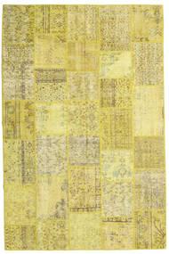 パッチワーク 絨毯 200X304 モダン 手織り 黄色/オリーブ色 (ウール, トルコ)