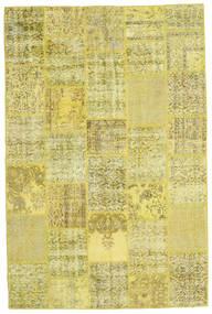 パッチワーク 絨毯 200X301 モダン 手織り 黄色/オリーブ色 (ウール, トルコ)