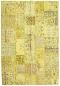 パッチワーク 絨毯 203X299 モダン 手織り 黄色/オリーブ色 (ウール, トルコ)