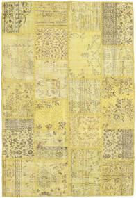 パッチワーク 絨毯 160X235 モダン 手織り 黄色/ライトグリーン (ウール, トルコ)