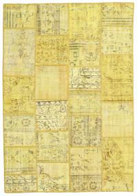 パッチワーク 絨毯 159X231 モダン 手織り 黄色/ベージュ (ウール, トルコ)