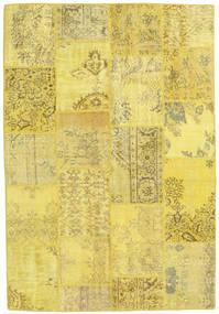 パッチワーク 絨毯 159X230 モダン 手織り 黄色/暗めのベージュ色の (ウール, トルコ)