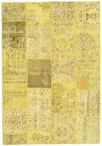 パッチワーク 絨毯 159X232 モダン 手織り 黄色/暗めのベージュ色の (ウール, トルコ)