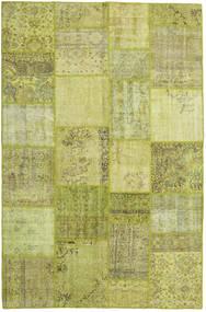 パッチワーク 絨毯 198X303 モダン 手織り オリーブ色/ライトグリーン (ウール, トルコ)