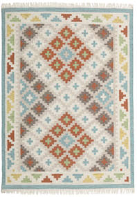 Summer キリム 絨毯 160X230 モダン 手織り 薄い灰色/暗めのベージュ色の (ウール, インド)