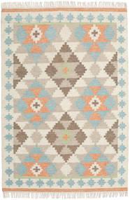 Summer キリム 絨毯 140X200 モダン 手織り ベージュ/薄い灰色 (ウール, インド)
