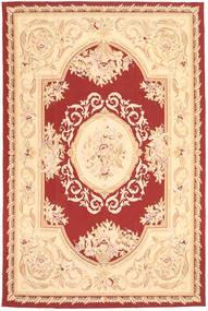 Aubouson 絨毯 184X281 オリエンタル 手織り 暗めのベージュ色の/ベージュ/深紅色の (ウール, 中国)