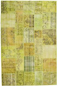 パッチワーク 絨毯 200X300 モダン 手織り 黄色/オリーブ色 (ウール, トルコ)