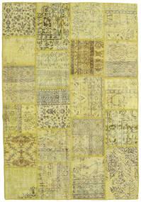 パッチワーク 絨毯 159X232 モダン 手織り 黄色/ライトグリーン/オリーブ色 (ウール, トルコ)