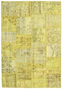 パッチワーク 絨毯 159X232 モダン 手織り 黄色/オリーブ色 (ウール, トルコ)