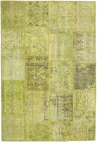 パッチワーク 絨毯 157X233 モダン 手織り オリーブ色/黄色/ライトグリーン (ウール, トルコ)