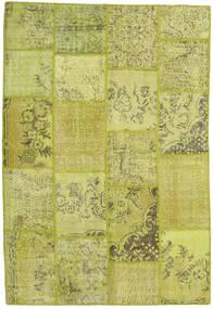 パッチワーク 絨毯 157X232 モダン 手織り オリーブ色/黄色 (ウール, トルコ)