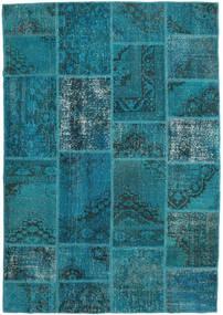 パッチワーク 絨毯 159X231 モダン 手織り ターコイズ/紺色の (ウール, トルコ)