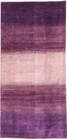 ギャッベ ペルシャ 絨毯 128X280 モダン 手織り 廊下 カーペット 濃い紫/ライトピンク/ピンク (ウール, ペルシャ/イラン)