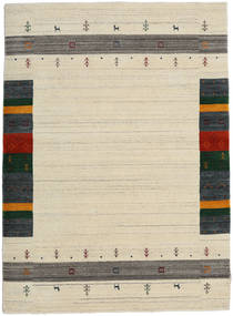 Loribaf ルーム Designer - ベージュ 絨毯 140X200 モダン 暗めのベージュ色の/ベージュ (ウール, インド)
