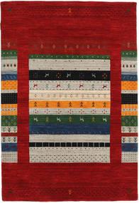 Loribaf ルーム Designer 絨毯 120X180 モダン 深紅色の/薄い灰色 (ウール, インド)