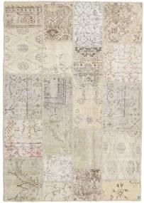パッチワーク 絨毯 139X201 モダン 手織り 薄い灰色/暗めのベージュ色の (ウール, トルコ)