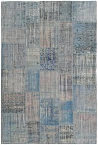 パッチワーク 絨毯 204X303 モダン 手織り 薄い灰色/水色 (ウール, トルコ)
