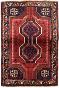 シラーズ 絨毯 111X162 オリエンタル 手織り 深紅色の/黒 (ウール, ペルシャ/イラン)