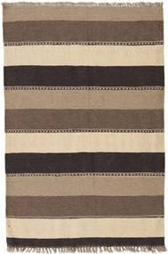 キリム 絨毯 83X125 オリエンタル 手織り ベージュ/濃いグレー (ウール, ペルシャ/イラン)