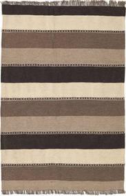 キリム 絨毯 81X125 オリエンタル 手織り 濃い茶色/ベージュ (ウール, ペルシャ/イラン)
