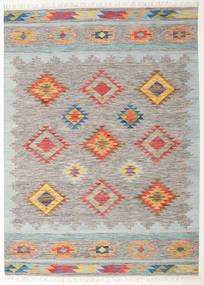 Spring キリム 絨毯 240X340 モダン 手織り 薄い灰色/暗めのベージュ色の (ウール, インド)