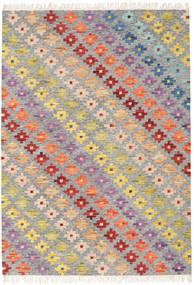 Spring キリム 絨毯 160X230 モダン 手織り 薄い灰色/暗めのベージュ色の (ウール, インド)