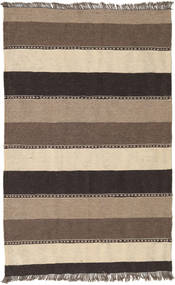 キリム 絨毯 80X127 オリエンタル 手織り 濃い茶色/ベージュ (ウール, ペルシャ/イラン)