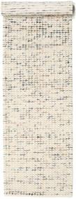 Big Drop - グレー/ベージュ Mix 絨毯 80X340 モダン 手織り 廊下 カーペット ベージュ/薄い灰色 (ウール, インド)