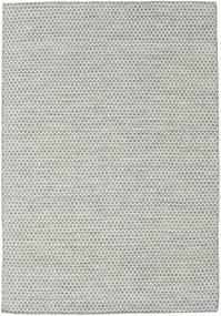 キリム Honey Comb - グレー 絨毯 160X230 モダン 手織り 薄い灰色/ベージュ (ウール, インド)