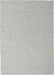 キリム Honey Comb - グレー 絨毯 210X290 モダン 手織り 薄い灰色/ターコイズブルー (ウール, インド)