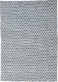 キリム Honey Comb - 青 絨毯 240X340 モダン 手織り 薄い灰色/水色 (ウール, インド)