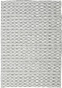 キリム Long Stitch - グレー 絨毯 240X340 モダン 手織り 薄い灰色/ターコイズブルー (ウール, インド)