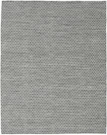 キリム Honey Comb - 黒/グレー 絨毯 190X240 モダン 手織り 薄い灰色/濃いグレー (ウール, インド)