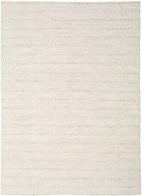 キリム Long Stitch - ベージュ 絨毯 210X290 モダン 手織り 薄い灰色/ベージュ (ウール, インド)