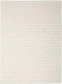 キリム Long Stitch - ベージュ 絨毯 290X390 モダン 手織り 薄い灰色/ベージュ 大きな (ウール, インド)