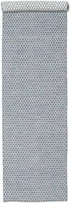 キリム Honey Comb - 青 絨毯 80X340 モダン 手織り 廊下 カーペット 薄い灰色/水色 (ウール, インド)