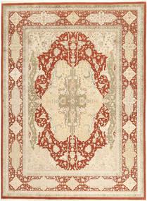 タブリーズ Royal 絨毯 270X367 オリエンタル 手織り ベージュ/暗めのベージュ色の/赤 大きな ( インド)