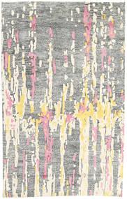 Handtufted 絨毯 150X238 モダン 薄い灰色/ホワイト/クリーム色 (ウール, インド)
