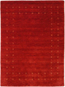Loribaf ルーム Delta - 赤 絨毯 140X200 モダン 錆色/深紅色の (ウール, インド)